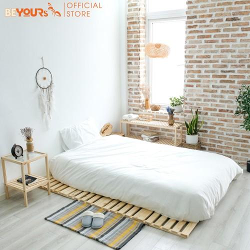 Bộ phòng ngủ BEYOURs 01 Skinny Bed nội thất kiểu hàn - Màu gỗ tự nhiên