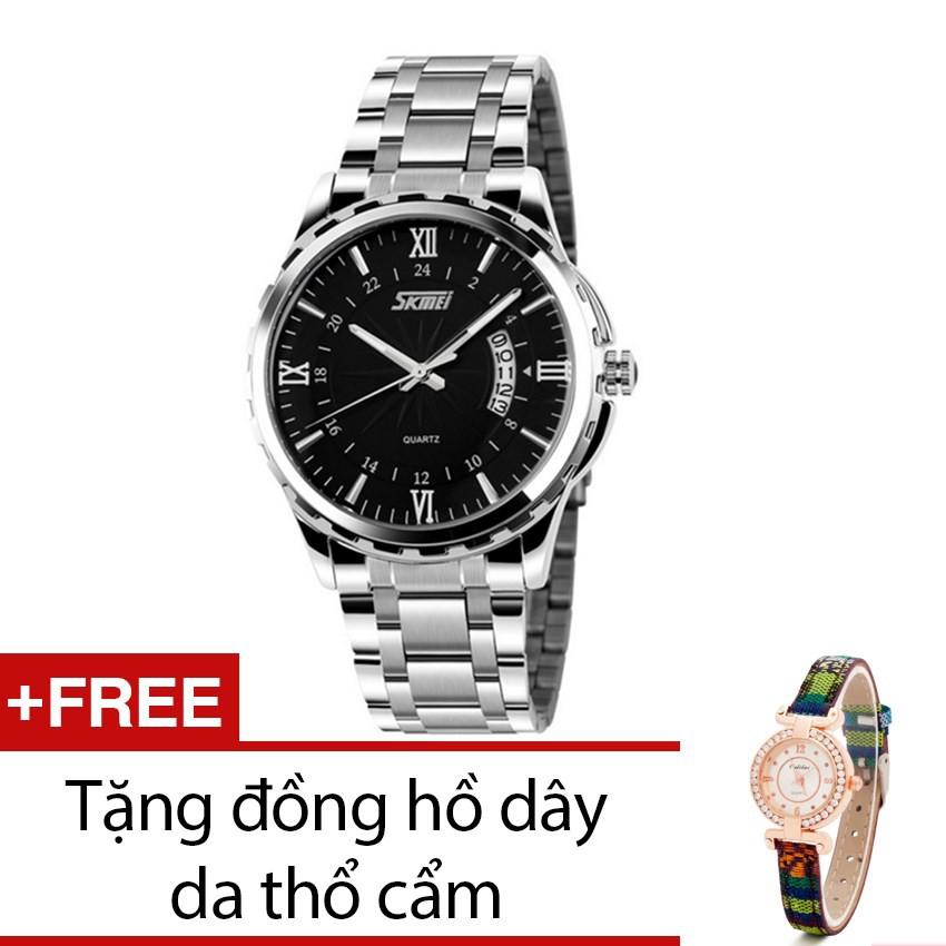Đồng hồ nam Skmei 9069 dây kim loại mặt đen tặng 1 đồng hồ thổ cẩm - 2470652 , 101483880 , 322_101483880 , 600000 , Dong-ho-nam-Skmei-9069-day-kim-loai-mat-den-tang-1-dong-ho-tho-cam-322_101483880 , shopee.vn , Đồng hồ nam Skmei 9069 dây kim loại mặt đen tặng 1 đồng hồ thổ cẩm