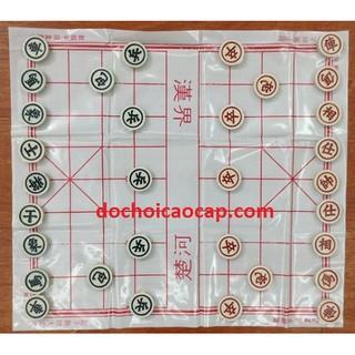 Bộ bàn cờ tướng nhựa chất lượng cao cỡ size quân 3.2 cm