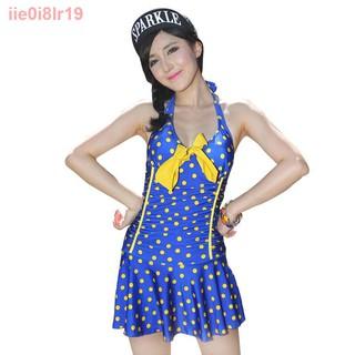 Áo tắm kiểu mới cổ điển chấm bi váy một mảnh thời trang sexy chữ V bảo vệ che bụng giảm béo mùa xuân nóng phụ nữ11