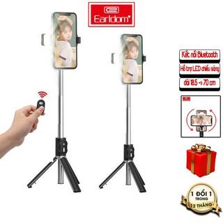 Gậy Chụp Hình, Livestream Bluetooth Earldom ZP17 Remote BLUETOOTH, LED Hỗ Trợ Ánh Sáng