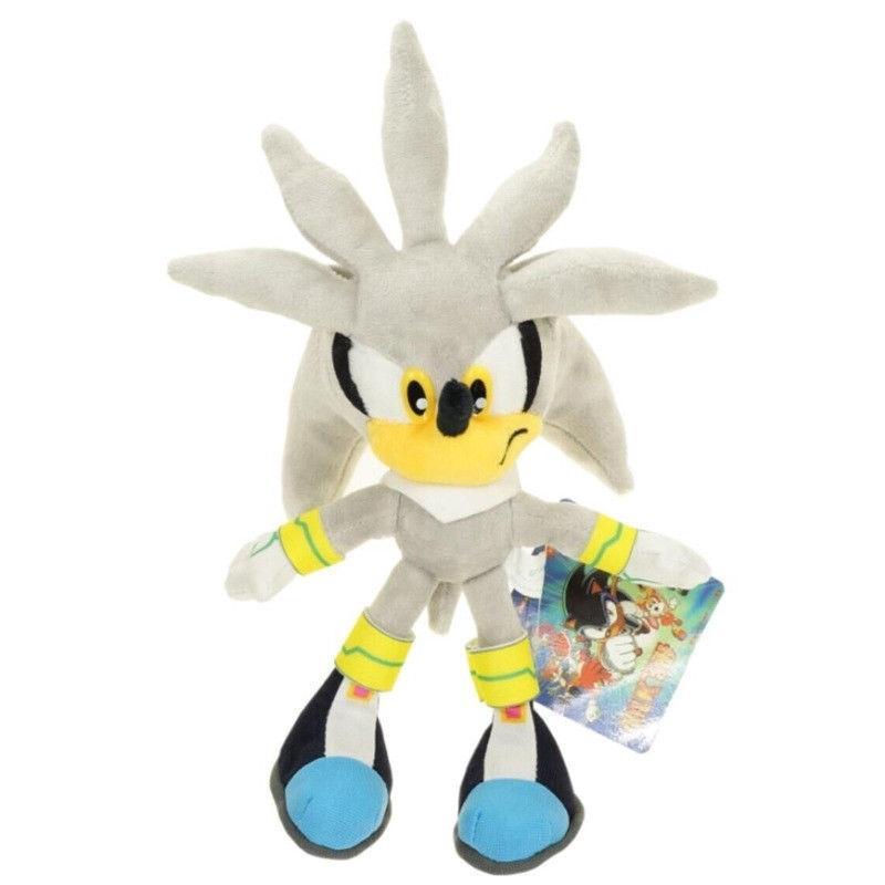 ღ☭Silver Sonic The Hedgehog Action Figure Gift Stuffed Plush Soft Doll Toy