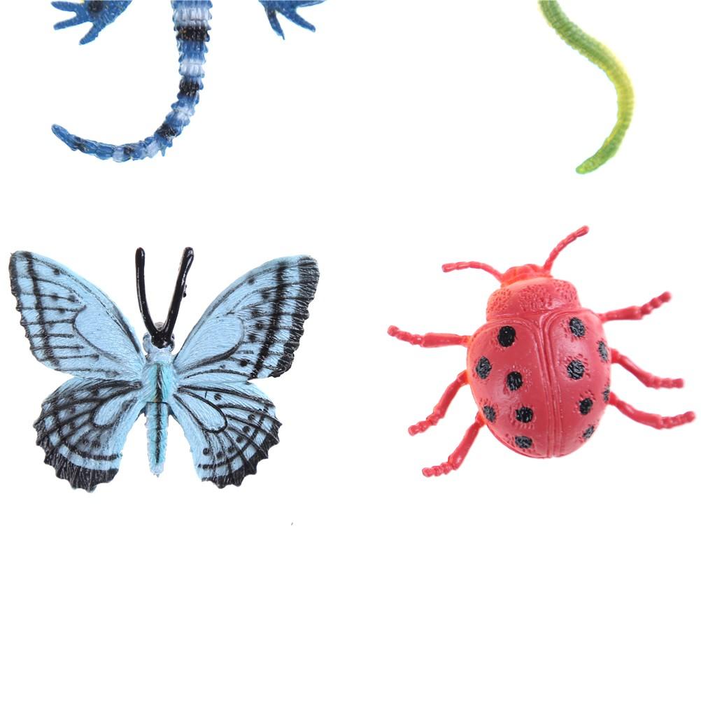 HBVN 12pcs Plastic Insect Reptile Model Figures Kids Party Bag