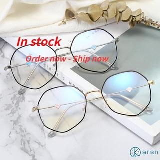 👗KAREN💍 Fashion Computer Goggles Vision Care Flat Mirror Eyewear Glasses Anti-UV Blue Rays Ultralight Unisex Radiation Protection Eyeglasses