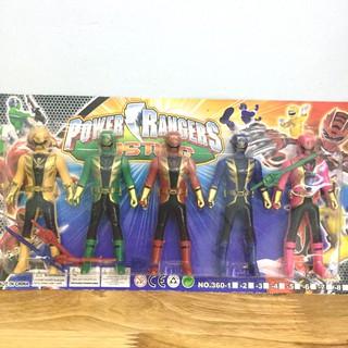Bộ 5 siêu nhân power rangers 360