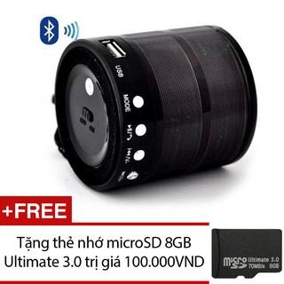 Loa Bluetooth USB thẻ nhớ WS-887 (Đen) + thẻ nhớ microSD 8GB thumbnail