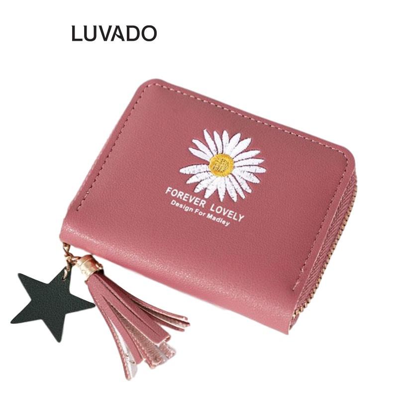 Ví nữ cao cấp MADLEY cầm tay mini thời trang nhỏ gọn nhiều ngăn đẹp LUVADO VD412