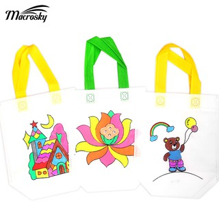 baby safety nmental Protection DIY Graffiti Tote Bag Color Toy