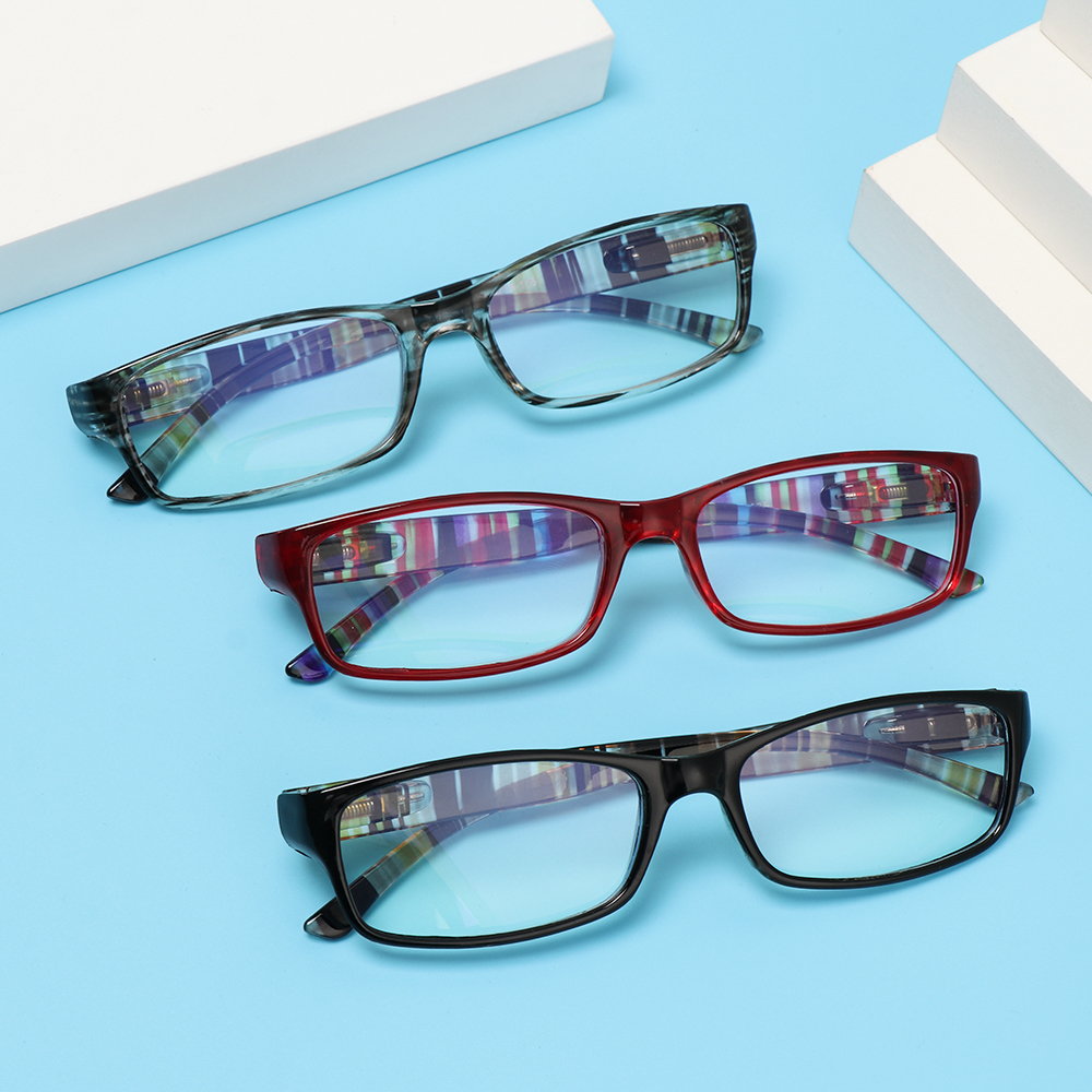 MIHAN1 Fashion Reading Glasses Comfortable Ultra Light Frame Anti-Blue Light Eyeglasses Portable Women Men Elegant Vintage Eye Protection/Multicolor