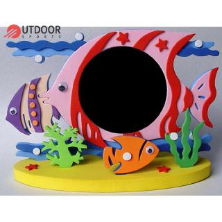 Bộ khung ảnh và xốp EVA kiểu hoạt hình 3D dùng để làm đồ chơi dán thủ công dành cho trẻ em