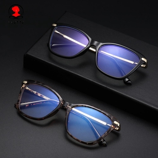 YVETTE Fashion Computer Glasses Non-Prescription Eyeglasses Blue Light Blocking Glasses Women & Men Reading Gaming Glasses Square Frame Anti Eye Eyestrain Blue Light Blocking