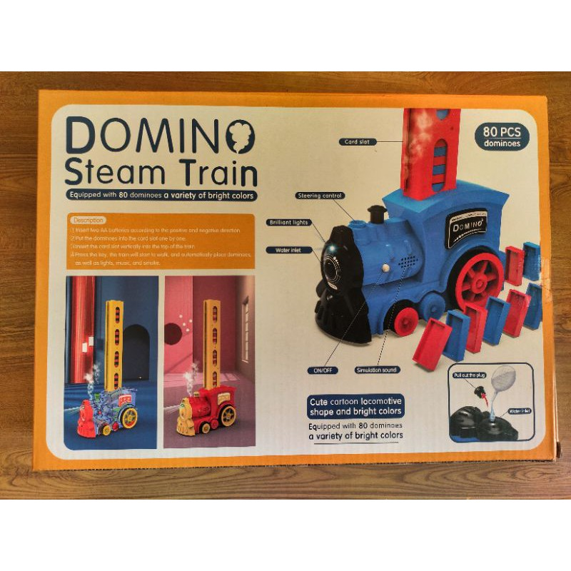 Tàu lửa xếp hình Domino, đồ chơi xếp Donino với đầu tàu chuyên dụng, tàu hỏa xếp Domino.