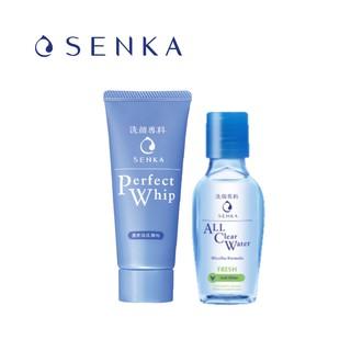 [Quà tặng] Combo Travel Kit Sữa rửa mặt Senka Perfect Whip 50g Nước tẩy trang Fresh 70ml