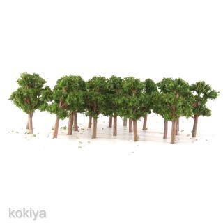 50x Banyan Trees Model Train Scenery Landscape Layout Scale 1:200 Dark Green