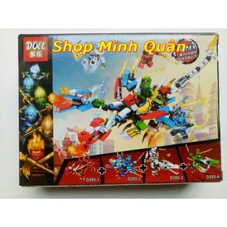 Lego Ninja rồng 2 đầu 4in1 mã d285 (khách chát chọn mẫu hoặc giao ngẫu nhiên)