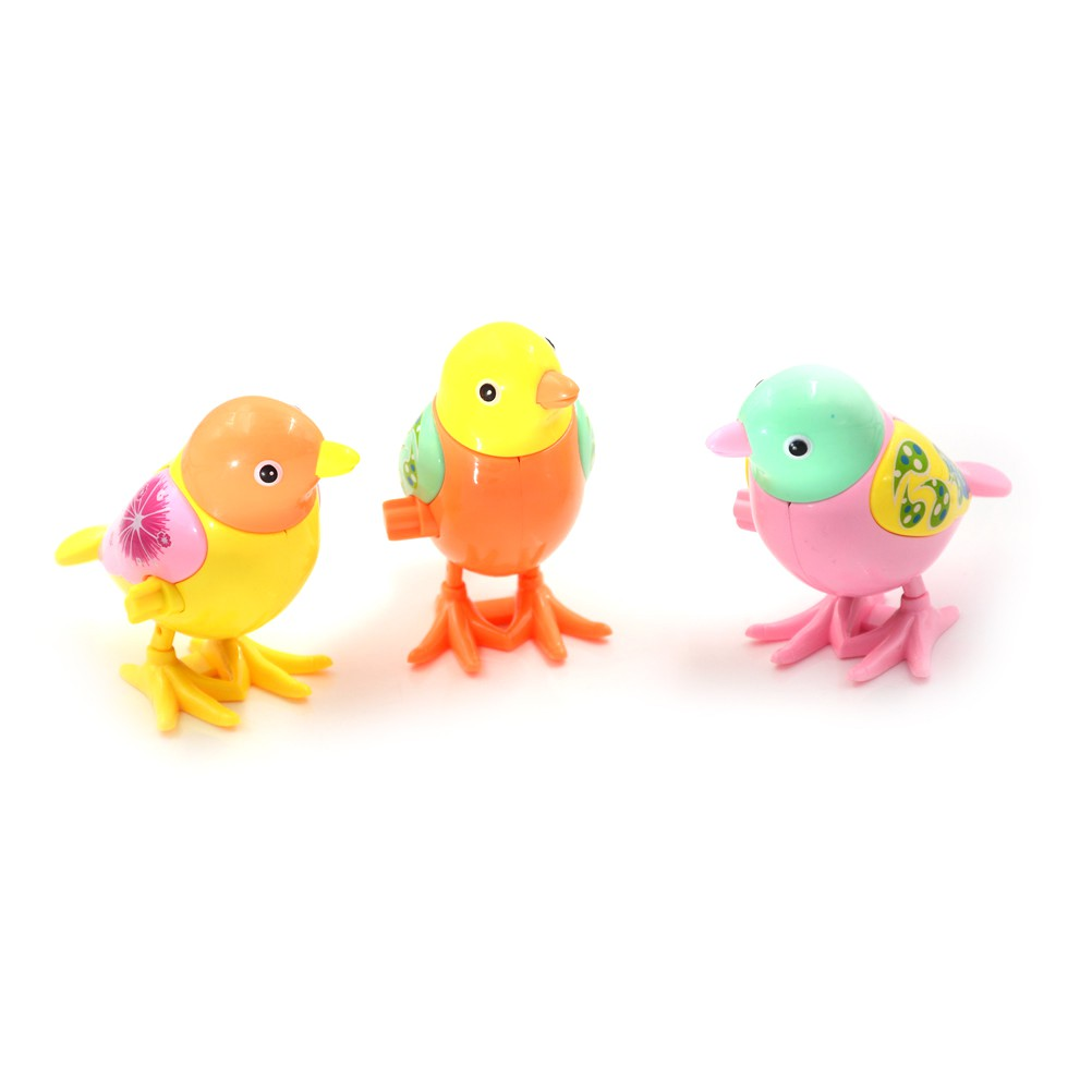 Lovely Kids Clockwork Spring Wind-up Bird Model Jumping Hobbies Classic Toys
