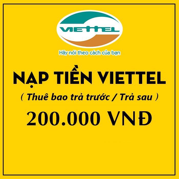 Thẻ Điện Thoại Viettel 200.000 - Thẻ Cà