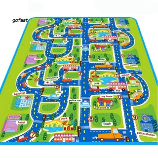 City Road Crawling Blanket Floor Carpet Rug Play Mat for Newborn Baby Children