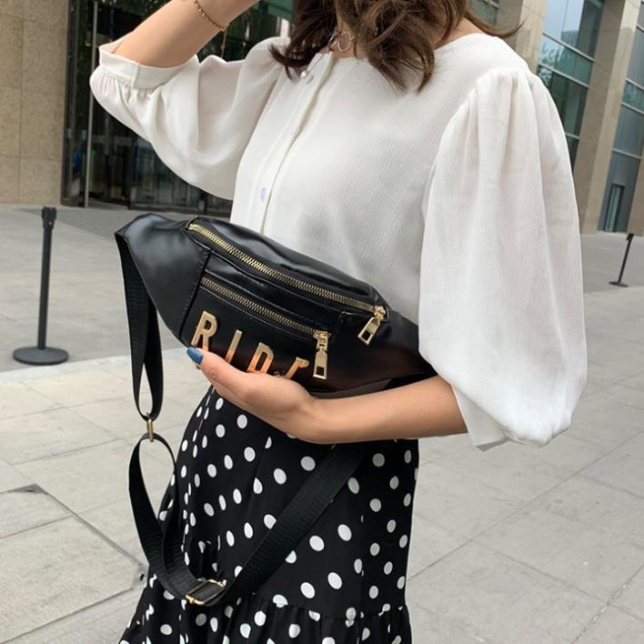 Túi bao tử, túi xách nữ cao cấp mini nhỏ đeo chéo giá rẻ da mềm phong cách Korea TXN104-c Loại 1