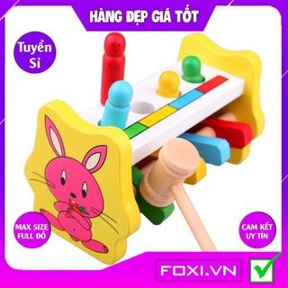 Đập chuột hình thỏ màu sắc đẹp-đáng yêu-đồ chơi gỗ trí tuệ thông minh cao cấp rèn luyện sự khéo léo cho bé thumbnail