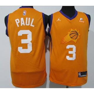 【3 styles】NBA jersey Phoenix Suns No.3 PAUL orange, purple, black, basketball jersey