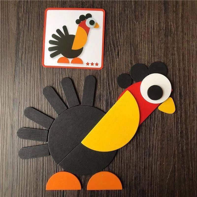 Bộ ghép hình cute Montessori Fun Board