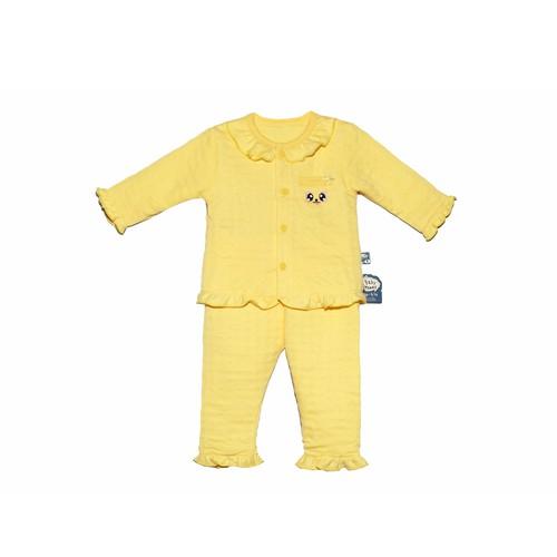 Bộ Bé Gái Viền Bèo Baby Mommy Vải Dệt Bông Size 1 - Size 5