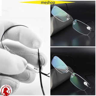 🍒ME🍒 Health Care Reading Glasses Elder Rimless Eyeglass Rectangular Ultralight Degree Spectacles Unisex Memory Titanium/Multicolor