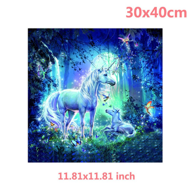Elf Unicorn Moon 5D Diamond Painting Fairytale Embroidery Cross Stitch AU New