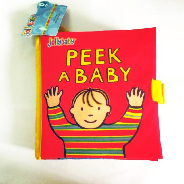 Sách vải Peek a baby – Jolly baby