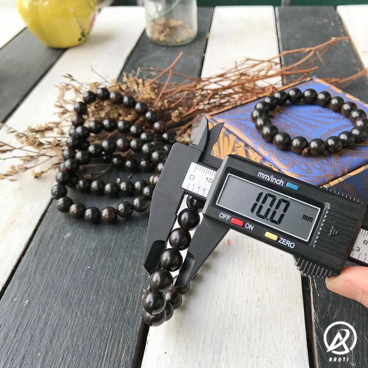 Vòng phong thủy gỗ mun sừng 10 ly - vòng tay gỗ phong thủy mệnh Mộc - thủy Vòng Tay/Lắc Tay