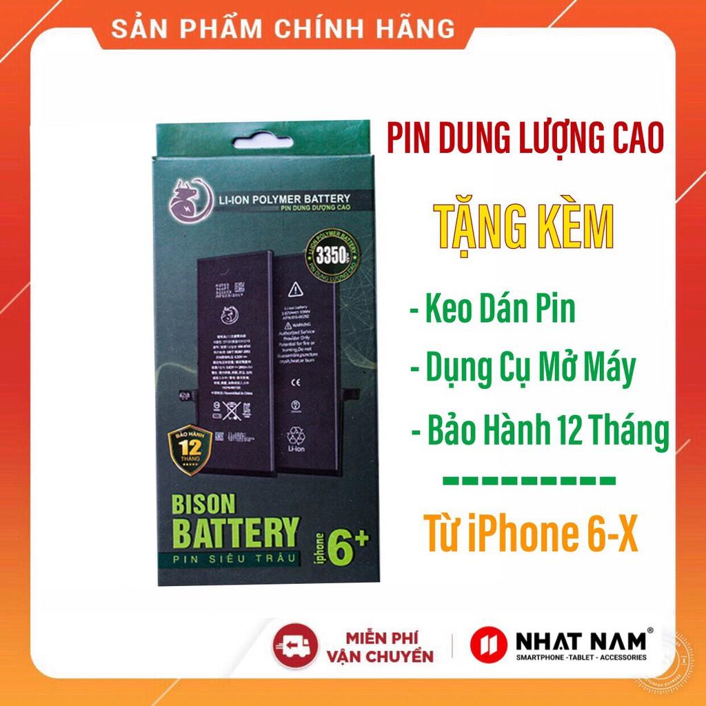 [Mã ELORDER5 giảm 10K đơn 20K] Pin Siêu Trâu IPhone Bison Dung Lượng Cao Cho IPhone 6/6S/6P/6sP/7/