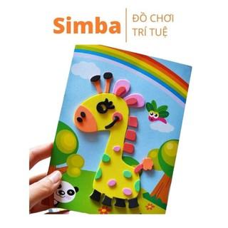 Tranh xé dán giấy bằng xốp đồ chơi Simbaba cho bé rèn luyện khéo léo thumbnail