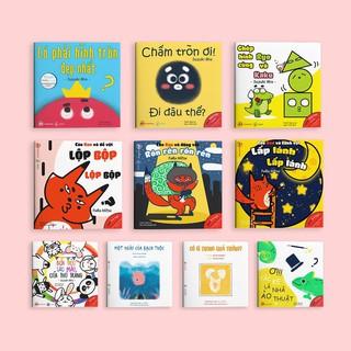 Sách - Ehon Combo 10 cuốn Màu sắc, Âm thanh, Hình khối - Ehon Nhật Bản cho bé 0 - 6 tuổi