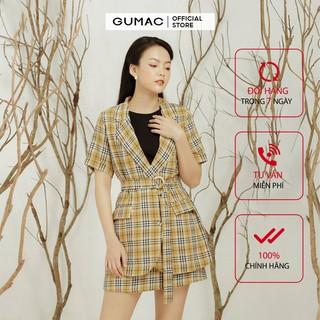 Áo vest nữ caro GUMAC màu vàng, đủ size, phong cách Hàn Quốc, thanh lịch, sang trọng A11911 thumbnail