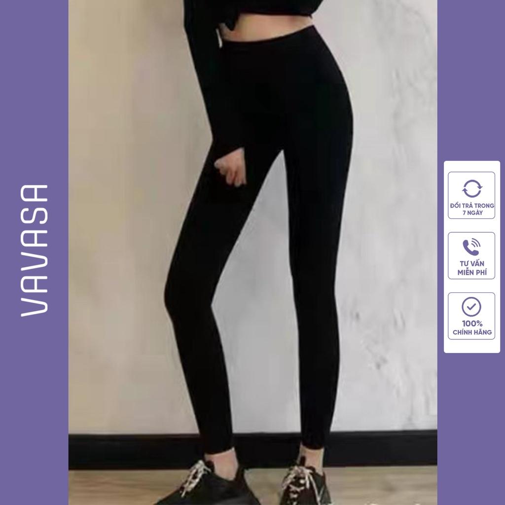 Quần legging nữ dài cạp cao bigsize cao cấp nâng mông VAVASA QL02