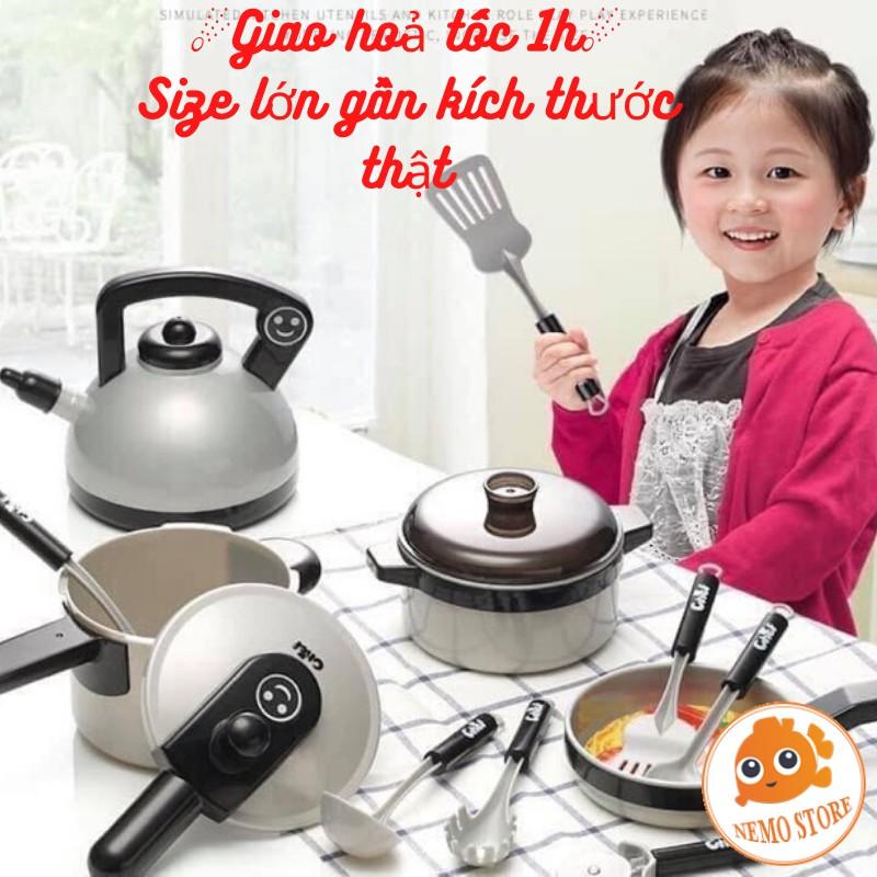 Đồ chơi nấu ăn cho bé 36 món size lớn cho bé gái