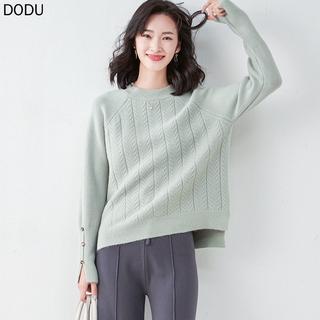 Áo Sweater Dáng Rộng Cổ Tròn Xinh Xắn Dành Cho Nữ