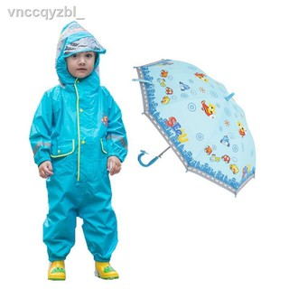 Áo mưa một mảnh trẻ em, học sinh, nam và nữ, mẫu giáo em bộ đồ hoạt hình giày đi quần poncho thumbnail