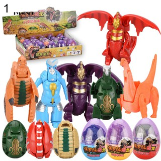 ♕Christmas Kids Ultraman Transformation Dinosaur Egg Dog Superman Monster Toy