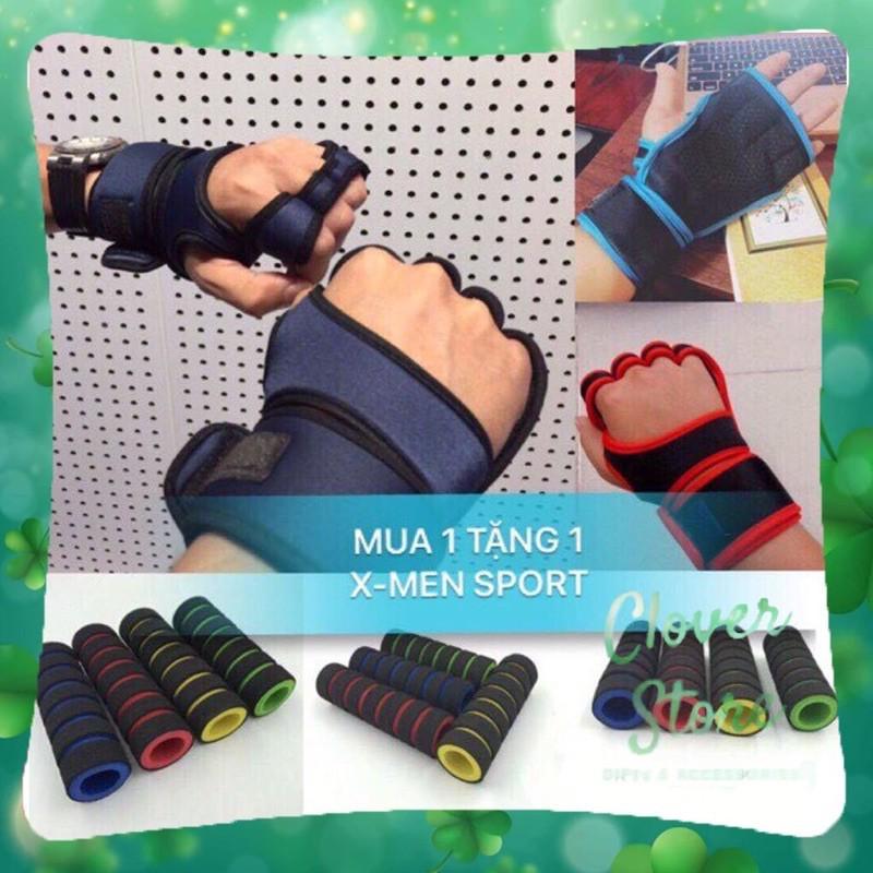 Găng tay tập gym chiến binh tặng kèm bao tay tập tạ