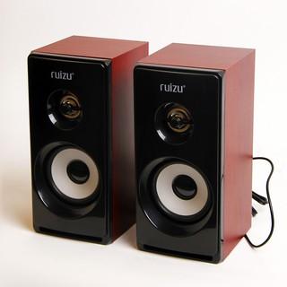[BH 6 tháng] Loa Vi Tính Ruizu RS-810 Vỏ gỗ âm thanh cực chất