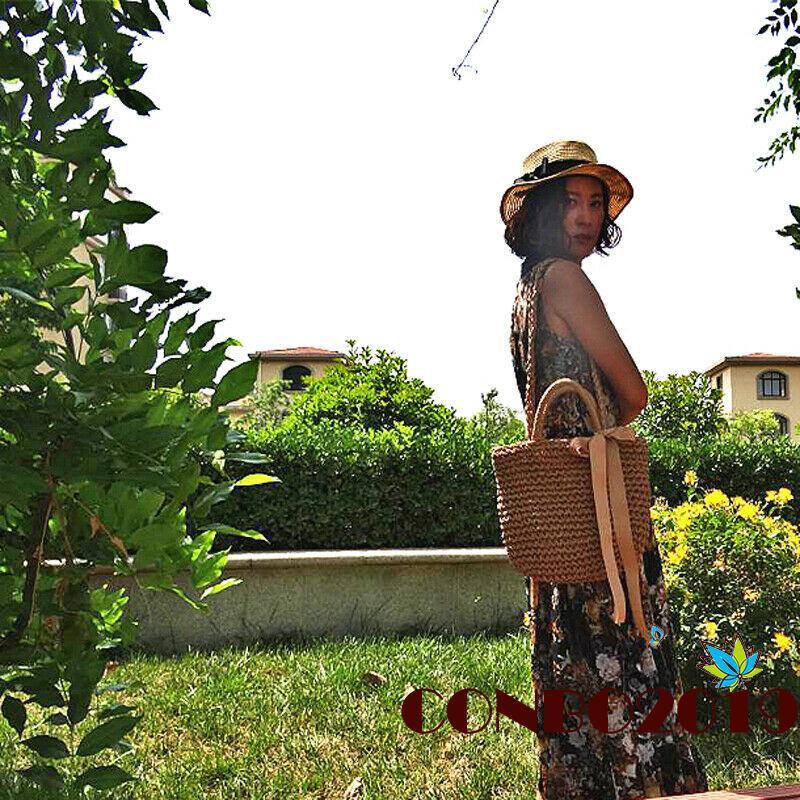 Túi xách nữ đan rơm thời trang