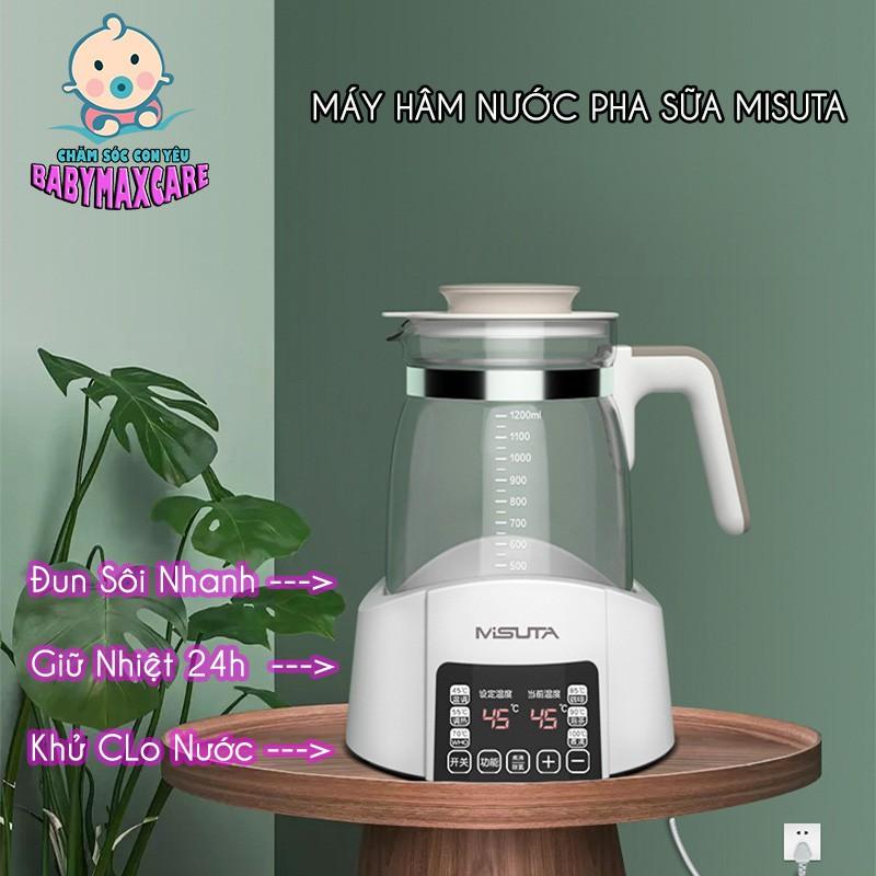[BH 12TH] Bình Đun Nước Siêu Tốc Pha Sữa Giữ Nhiệt Thông Minh Misuta, Siêu Tiện Lợi Dành Cho Các Mẹ