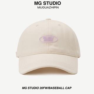 Mũ bóng chày MG STUDIO hoạ tiết tên nhãn hiệu nổi xinh xắn