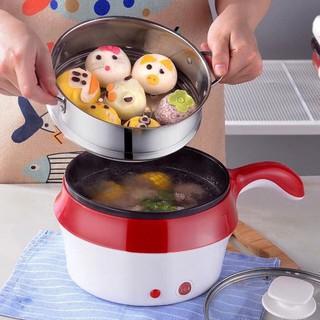 Nồi Điện Mini Hai Tầng Đa Năng Tặng Kèm Khay Hấp có thể Chiên, Xào, Nấu ăn, nấu lẩu mini thumbnail