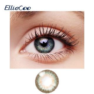 Bộ 2 chiếc kính áp tròng EllieCoo màu vàng xanh lá cây thuộc dòng Flower thời trang sử dụng trong nửa năm thumbnail