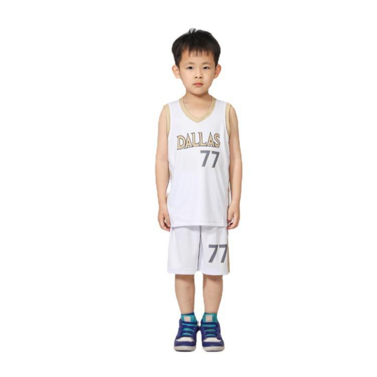 ✟❁♝Quần áo trẻ em, đồng phục bóng rổ trẻ em, bộ quần áo thể thao mùa hè, chữ cái tiếng anh, bé trai , trẻ em gái và quần