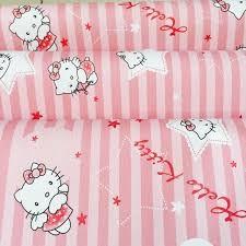 Decal giấy dán tường - Hình kitty sọc hồng- Kích thước 45cm