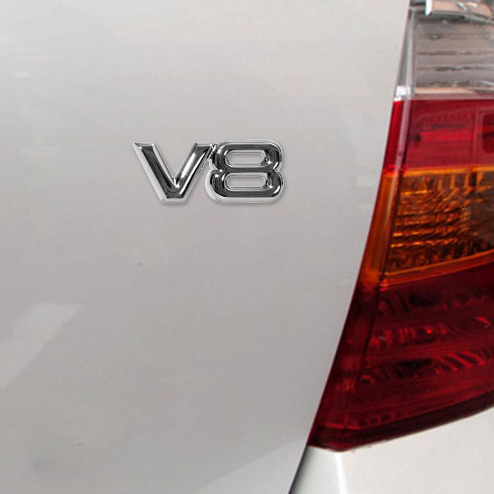 Miếng Dán Trang Trí Xe Hơi Hình Biểu Tượng 3d 4wd V6 V8